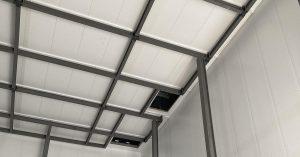 Internal steel frame inside the University of Salford's Energy House 2
